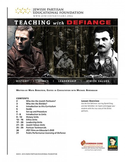 defiance jewish dating site Jpef's defiance multimedia curriculum, developed in cooperation with the film makers engage your students in critical thinking about history, leadership, ethics, and jewish values with.